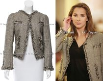 CHANEL TIMELESS CLASSICS CHANEL Black Gold Tweed Jacket F42