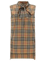 Burberry Other Plaid Patterns Casual Style Cotton Elegant Style