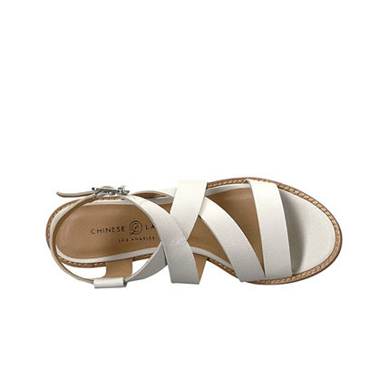 CHINESE LAUNDRY Open Toe Casual Style Leather Heeled Sandals