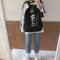 Almost Blue Casual Style Unisex Street Style A4 Plain Logo Backpacks