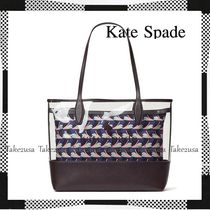 kate spade new york Dots Casual Style A4 2WAY 3WAY Leather Party Style