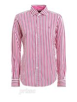 POLO RALPH LAUREN Stripes Casual Style Long Sleeves Cotton Office Style Logo