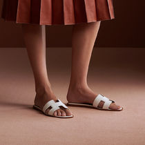 HERMES Oran Casual Style Leather Sandals Sandal