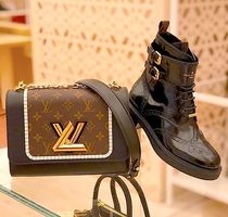 Louis Vuitton Round Toe Casual Style Blended Fabrics Street Style Leather