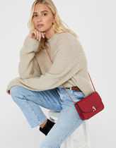 Accessorize Faux Fur Blended Fabrics Plain Office Style Crossbody