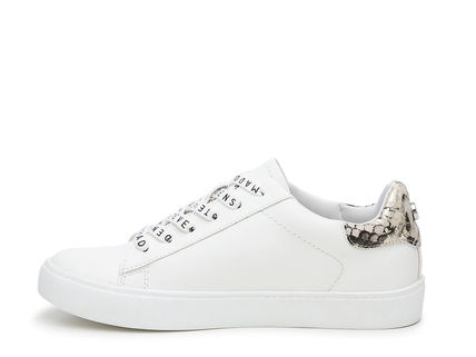 Blended Fabrics Plain Leather Low-Top Sneakers