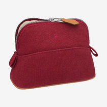 HERMES Bolide Canvas Plain Logo Pouches & Cosmetic Bags