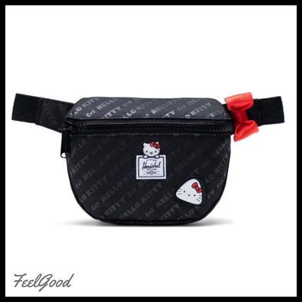 Street Style Collaboration Logo Pouches & Cosmetic Bags