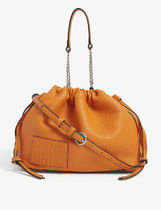 sandro Casual Style 2WAY Plain Leather Logo Shoulder Bags