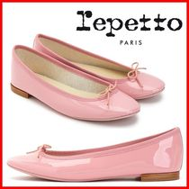 repetto Round Toe Plain Office Style Elegant Style Formal Style