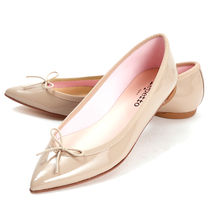 repetto Plain Leather Office Style Elegant Style Formal Style