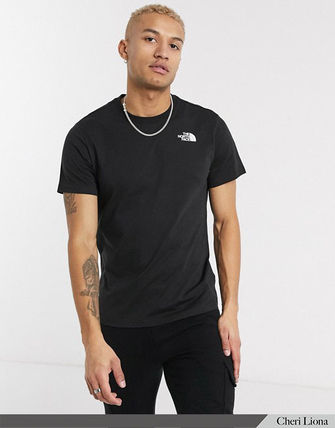 THE NORTH FACE Crew Neck Crew Neck Street Style Plain Cotton Short Sleeves Logo 7