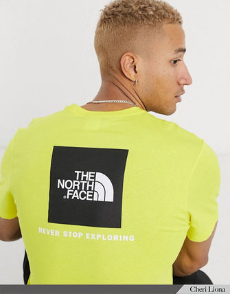 THE NORTH FACE Crew Neck Crew Neck Street Style Plain Cotton Short Sleeves Logo 14
