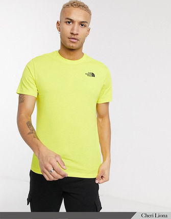 THE NORTH FACE Crew Neck Crew Neck Street Style Plain Cotton Short Sleeves Logo 15