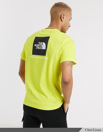 THE NORTH FACE Crew Neck Crew Neck Street Style Plain Cotton Short Sleeves Logo 16
