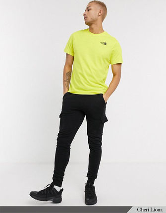 THE NORTH FACE Crew Neck Crew Neck Street Style Plain Cotton Short Sleeves Logo 17