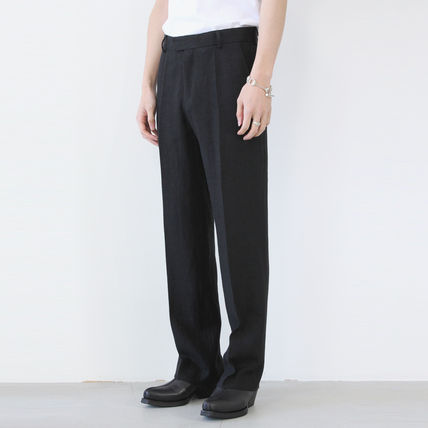Slax Pants Unisex Linen Plain Slacks Pants