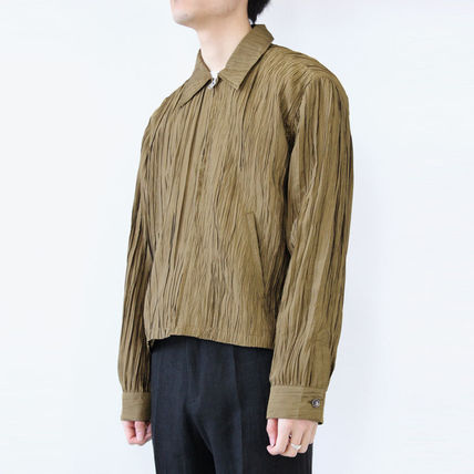 Short Unisex Plain Khaki Jackets