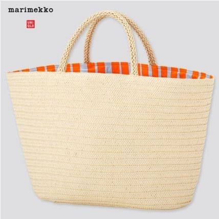 Collaboration Plain Straw Bags