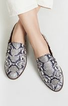 Madewell Casual Style Leather Python Loafer & Moccasin Shoes