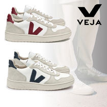 VEJA V10 Round Toe Rubber Sole Lace-up Casual Style Unisex