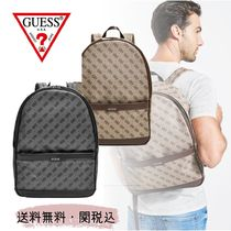 Guess Canvas Saffiano Faux Fur Street Style A4 Leather Logo