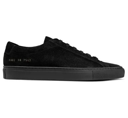 Round Toe Rubber Sole Lace-up Suede Plain Leather Logo