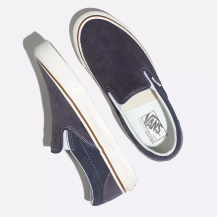 Suede Street Style Plain Logo Loafers & Slip-ons