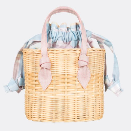 Other Plaid Patterns Casual Style 2WAY Plain Handbags