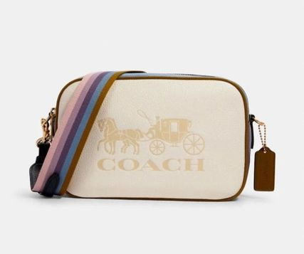 Casual Style Leather Crossbody Logo Shoulder Bags