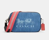 Coach Casual Style Leather Crossbody Logo Shoulder Bags