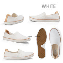 UGG Australia Stripes Plain Toe Casual Style Plain Slip-On Shoes