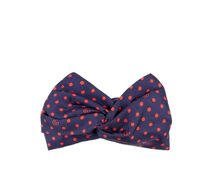 GUCCI Polka Dot And Double G Silk Headband
