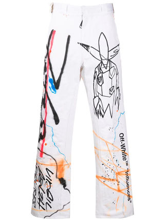 Off-White More Jeans Printed Pants Denim Street Style Jeans 2