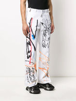 Off-White More Jeans Printed Pants Denim Street Style Jeans 4