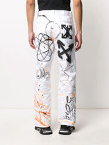 Off-White More Jeans Printed Pants Denim Street Style Jeans 5