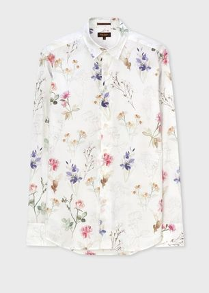 Paul Smith Flower Patterns Street Style Long Sleeves Cotton Shirts