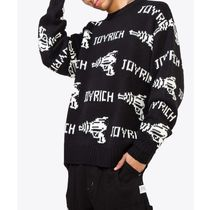 JOYRICH Crew Neck Cable Knit Unisex Street Style Long Sleeves