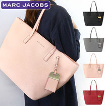 MARC JACOBS A4 Plain Leather Office Style Totes