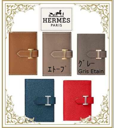 HERMES Bearn Leather Card Holders