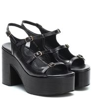 Dries Van Noten Square Toe Platform Casual Style Leather