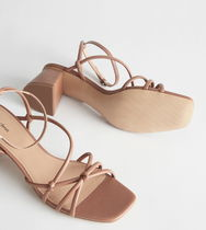 & Other Stories Square Toe Casual Style Plain Leather Party Style