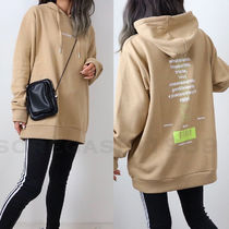 Unisex Street Style Long Sleeves Plain Medium Oversized