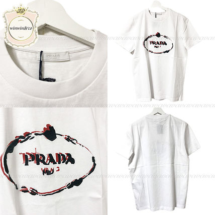 PRADA Crew Neck Crew Neck Cotton Short Sleeves Crew Neck T-Shirts 7