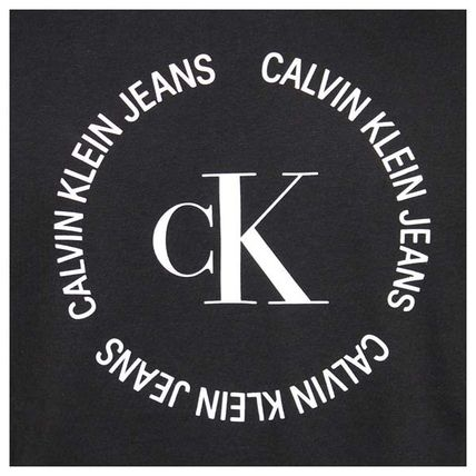 Calvin Klein Crew Neck Crew Neck Plain Cotton Short Sleeves Logo Crew Neck T-Shirts 5