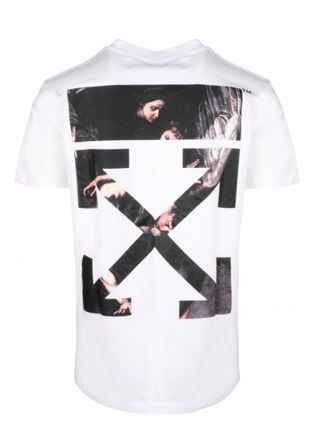 Off-White More T-Shirts Street Style Cotton Short Sleeves Oversized 12