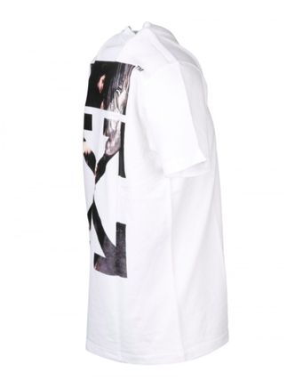 Off-White More T-Shirts Street Style Cotton Short Sleeves Oversized 13