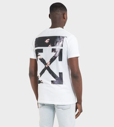 Off-White More T-Shirts Street Style Cotton Short Sleeves Oversized 15