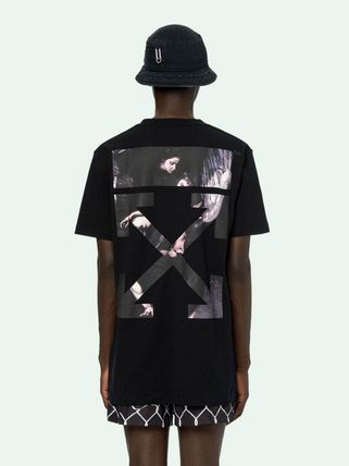 Off-White More T-Shirts Street Style Cotton Short Sleeves Oversized 17