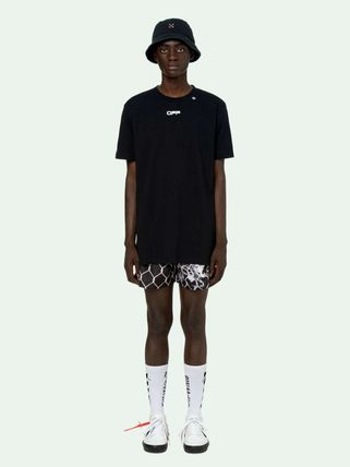 Off-White More T-Shirts Street Style Cotton Short Sleeves Oversized 18